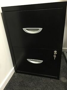 Office Black lockable 2 Drawer Filing Cabinet Yeronga Brisbane South West Preview