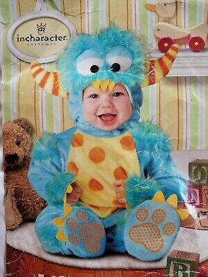 2t Monster Costume (Baby Monster Halloween Costume Blue Size 18 Mos to 2T)