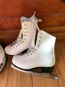Youth size 11 skates and Bauer helmet