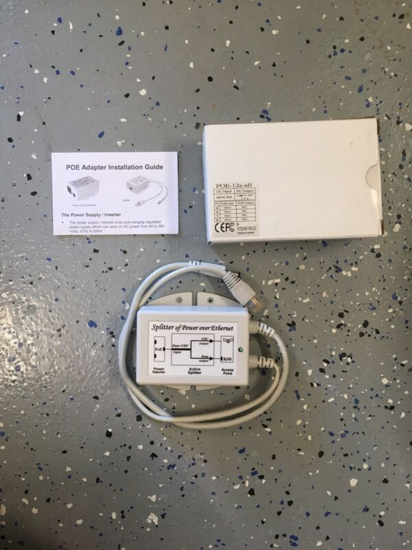 A- Pacific Wireless POE-12S-AFI 12 volt Power over Ethernet Active Splitter