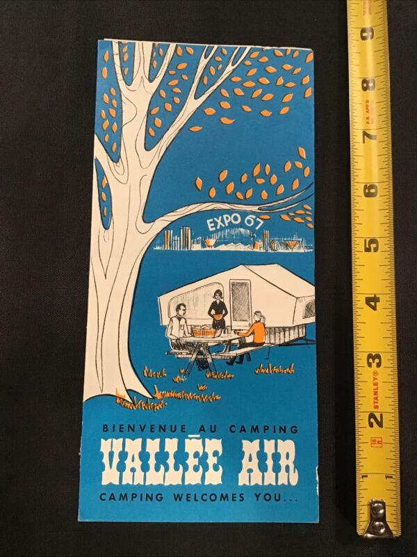 1967 Montreal Canada Expo Valle Air Camping Camp Ground Flyer