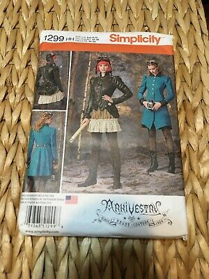 Simplicity 1299 Pattern Steampunk Cosplay COMIC CON NEW ADULT SIZES 6,8,10,12
