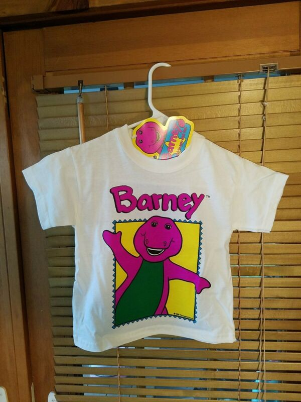 Vintage 1992 Barney Kids Toddler T Shirt Brand New With Tags 4T 4X Cartoon 90s