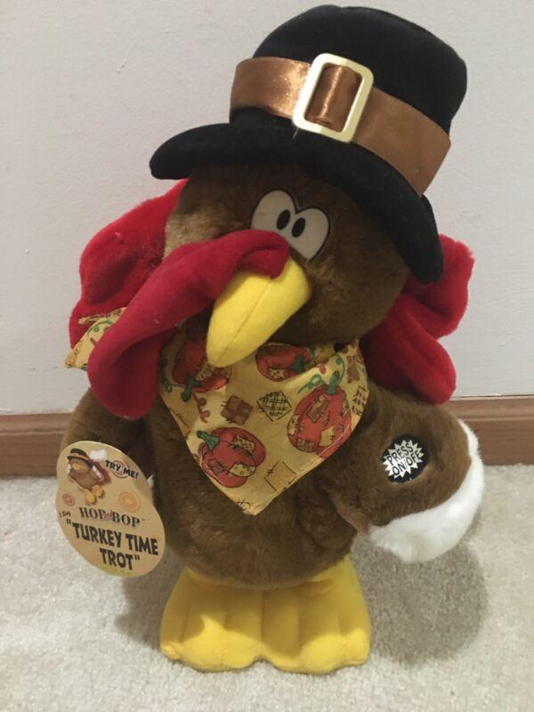 Dan Dee Animated Plush Turkey Hop and Bop Singing Turkey Trot Time NWT