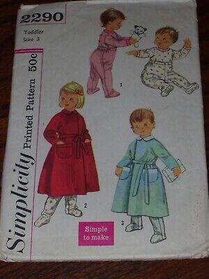 Snap Waist Pajamas (👼🏻 1957 SIMPLICITY #2290 - BOY'S & GIRLS WAIST SNAP PAJAMAS & ROBE PATTERN )