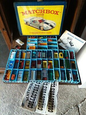 Vintage Lot Of 51 Lesney Matchbox Cars With Catalog and Club papers