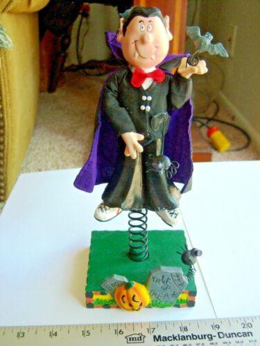 "Vampire Halloween Standee Figure 9"" Dracula Bats Spiders Jiggling Free Shipping"