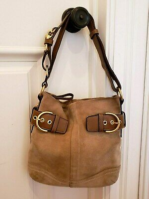 Coach Suede Leather Purse
