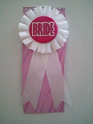 BRIDE Rosette Ribbon button Bachelorette Party / Bridal Store - Choose Qty Lot (Bachelorette Party Store)