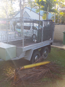 8 x5 cage trailer -tandem axle -solid -no rego. Nerang Gold Coast West Preview