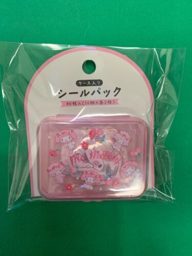 Sanrio Japan My Melody Stickers With Plastic Pink Case B4