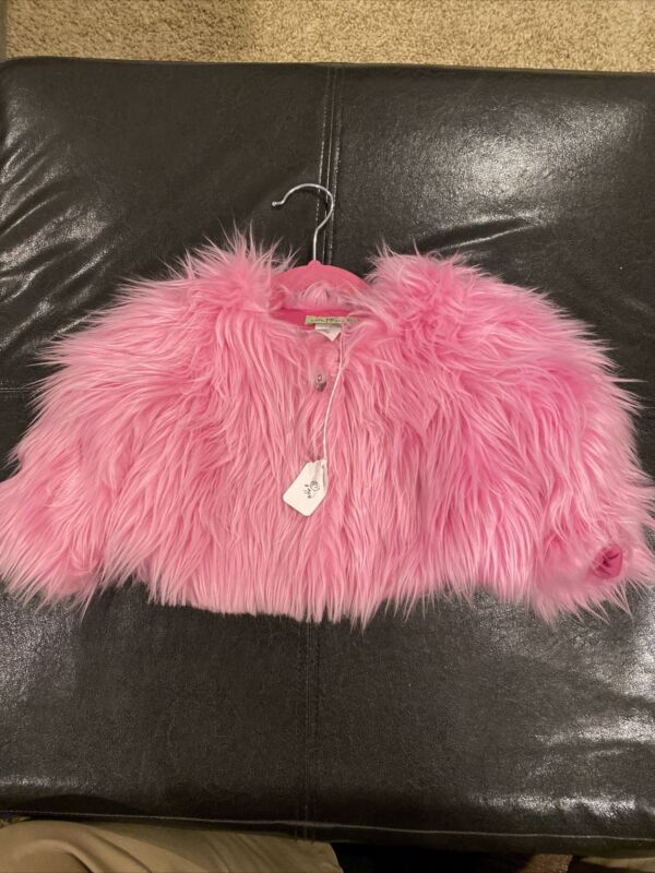 Little Mass Infant  Furry Pink Jacket 2T