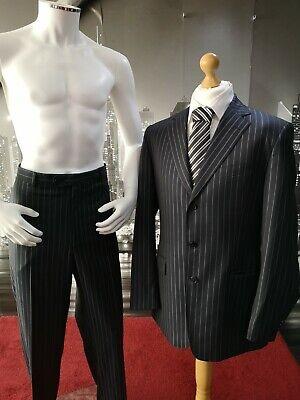 "Joseph Abboud 2 Piece Black Pinstripe Suit Chest 42"" Waist 36"" RRP £200 Regular"