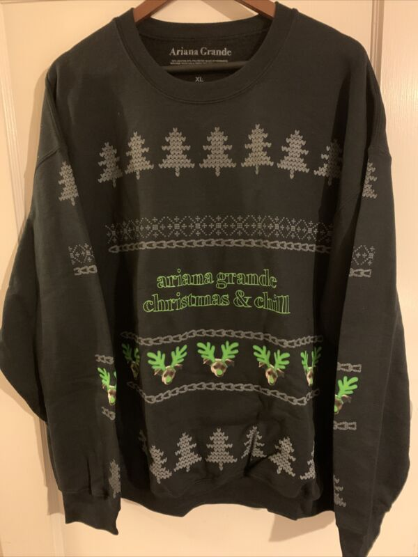 Ariana Grande Sweetener Thank u Next Tour Sweatshirt Christmas & chill XL Unworn