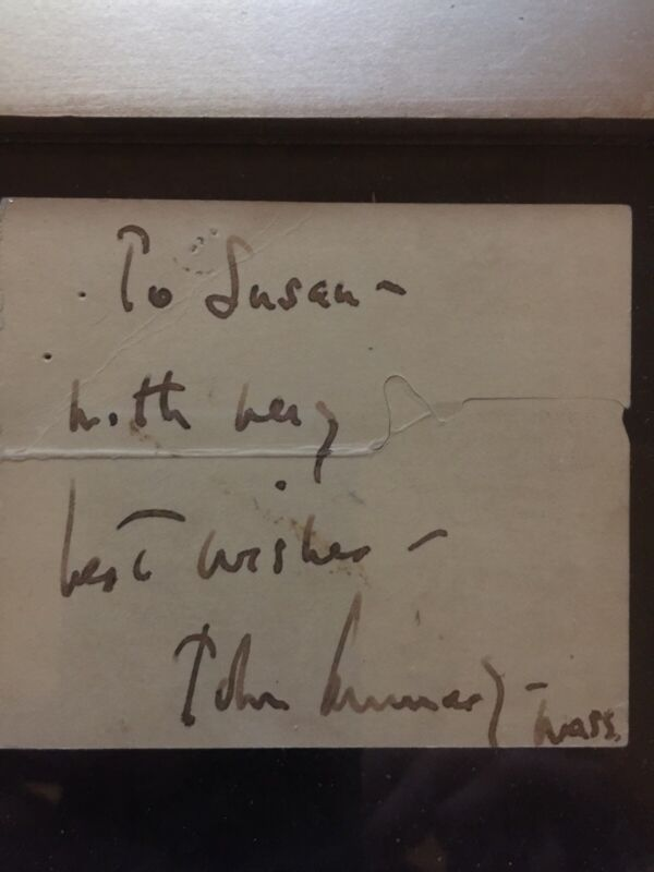 President John F Kennedy autograph Prior to his Presidential Election - 1959