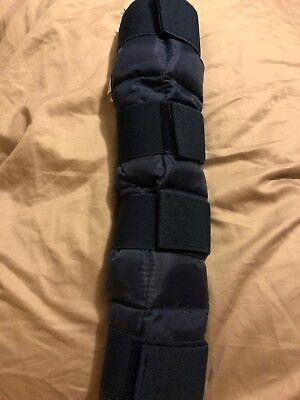 "NEW!! Tough 1 Horse Injury relief Cooling Ice Boot, Navy Blue Size 16"" TALL 🐴"