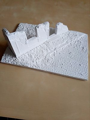 WWII diorama base cobbled street building in ruins 1/35 accessories