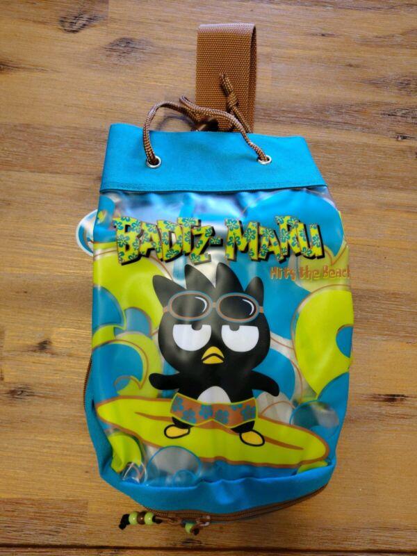 Badtz-Maru Hits the Beach Vinyl Sling Bag 1999 Vintage NWT Drawstring Sanrio NEW