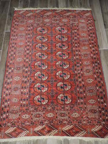 4x6ft. Antique Tekke Bokharra Wool Rug