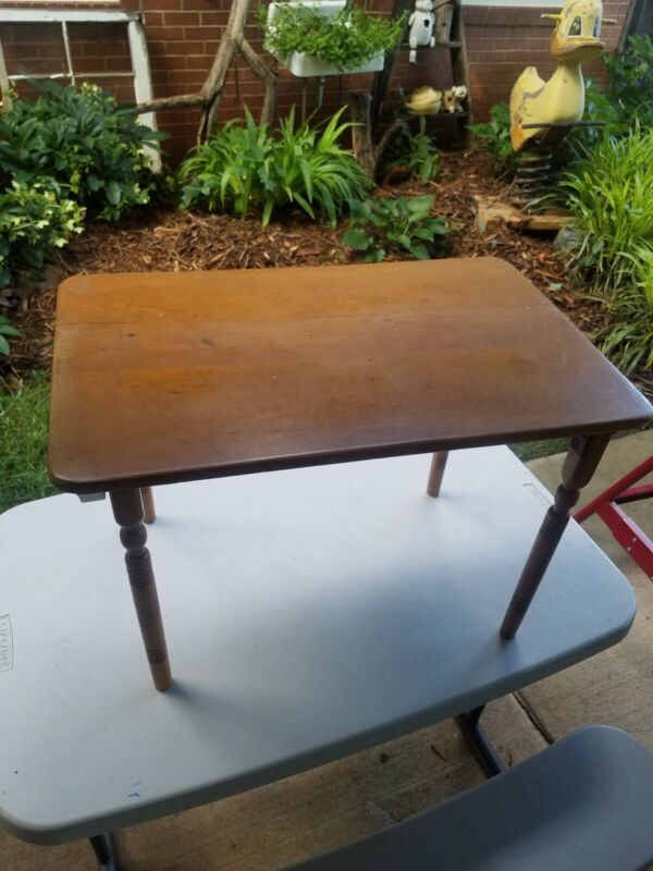 Vintage Antique Childs Size Folding Table Sewing Table