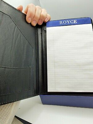 Royce Leather Writing Portfolio Writing Pad Prescription 8 X 5 Padfolio Binder