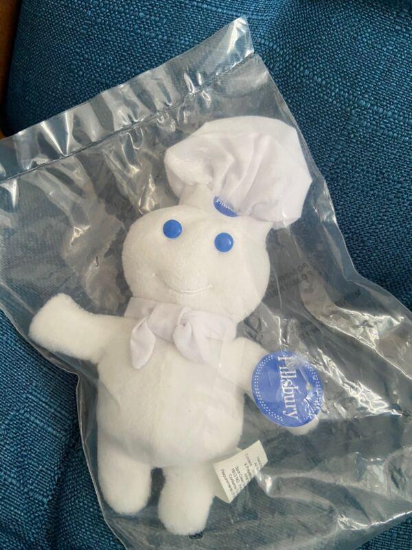 "Pillsbury Doughboy Mini 6"" Plush Stuffed Bean Bag Doll Toy NIP 1999 Ad mascot"