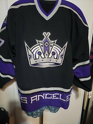L.A KINGS Authentic Jersey CROWN logo Black/purple NOLAN  Rebook NHL Jersey 56 for sale  Long Beach