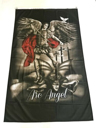 St. Michael Archangel 3ftx5ft flag banner limited edition warrior protector new