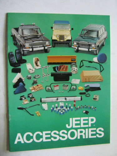1982 JEEP ACCESSORIES CATALOG  BROCHURE ORIGINAL 13  PAGES
