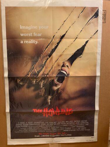 "The Howling 1981Original Filded Movie Poster 27"" x 41"" Rare"