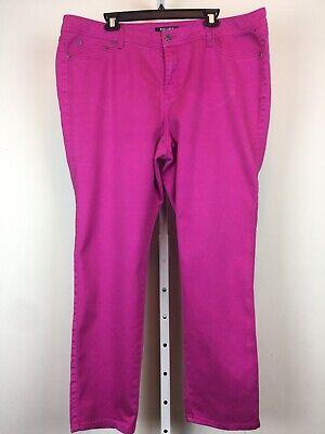 Roz & Ali Womens Jeans Pants Bottoms Denim Pink Plus Size 20 - 20 Bottoms Jeans