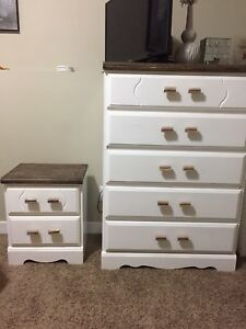 Re-done dresser and nightstand!!