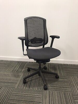 Herman Miller Celle Task Chair with arms, Fully Adjustable. FREE UK POSTAGE