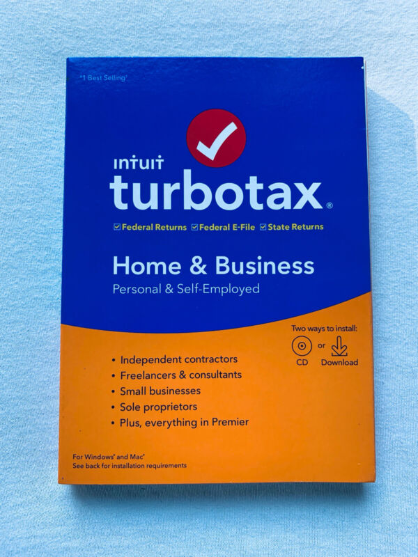 TurboTax Home & Business, 2019 Tax Software, Sealed, PC/Mac, Same Day Access