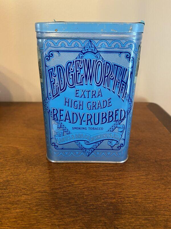 Antique Vintage Edgeworth Extra High Grade Ready-Rubbed Pocket Tobacco Tin Empty