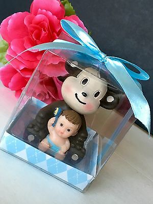 12-Baby Shower Monkey Animals Safari Party Favors Figurines Jungle - Monkey Baby Shower Favors