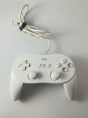 Official Genuine Nintendo Wii White Classic Pro Controller OEM
