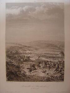 Grande gravure de la Bataille d' ALTENKIRCHEN le 4 juin 1796 Westerwald Kléber - France - Type: Gravure Période: XIXme et avant Thme: Histoire, Guerre Authenticité: Original - France