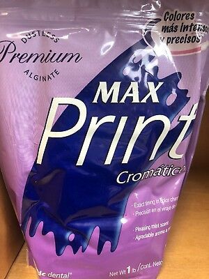 Dental Alginate Max Print Chromatic Premium Dustless 1 Lb Fast Set Type I Ortho