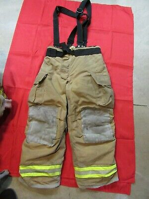 Mfg. 2013 Globe Gxtreme 40 X 30 Firefighter Turnout Bunker Pants Suspenders