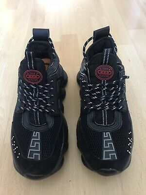 Versace - Chain Reaction Sneakers - Black Eu Size 40 UK Size 7