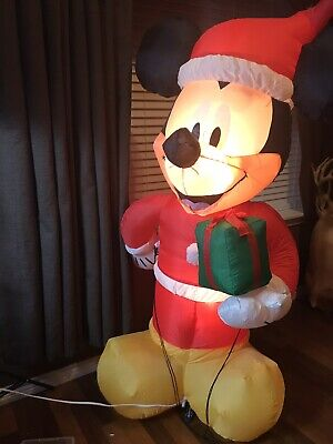 GEMMY MICKEY MOUSE AIRBLOWN INFLATABLE CHRISTMAS DECORATION DISNEY 6 FT TALL