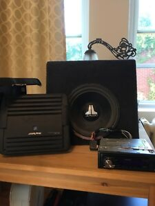 2 JL subwoofers, Alpine Amplifier, Kenwood Cd receiver