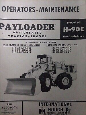 International H 100C Tire Loader Chassis Service Manual