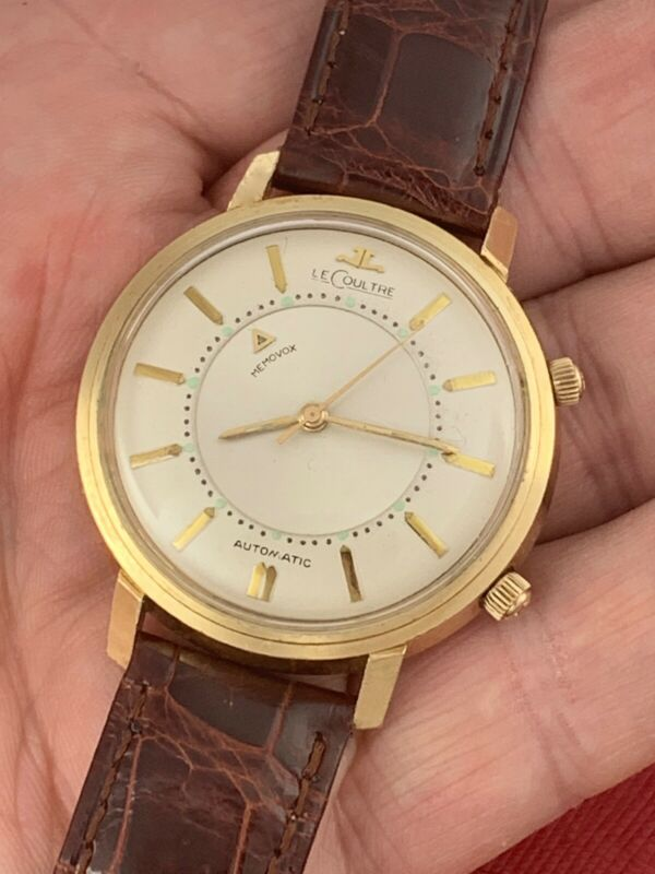 "VINTAGE 1950's JAEGER-LECOULTRE 14K GOLD MEMOVOX ALARM WRIST WATCH ""AS IS"". RARE - watch picture 1"