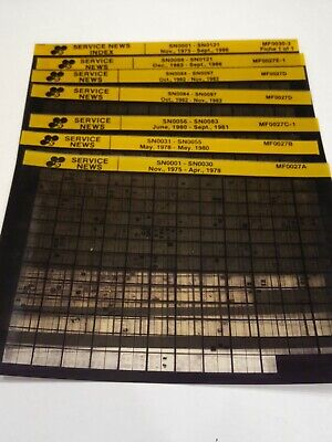 Steiger Tractor Service News Bulletins Catalog Manual Fiche Microfiche Tractor
