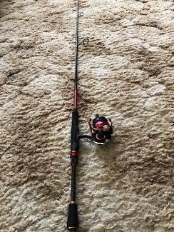 Fishing Rod & Reel Daiwa Silver Wolf Z Combo. 2506 OR 2004 As New