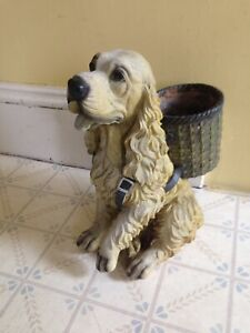 "Dog Garden Ornament With Planter, 15"" Tall"
