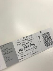 MY FAIR LADY TICKET  ticket available Newmarket Brisbane North West Preview