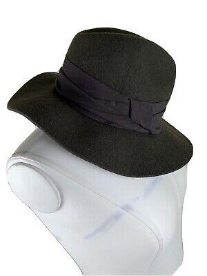 Zara Womens Green Wool Hat Accesories